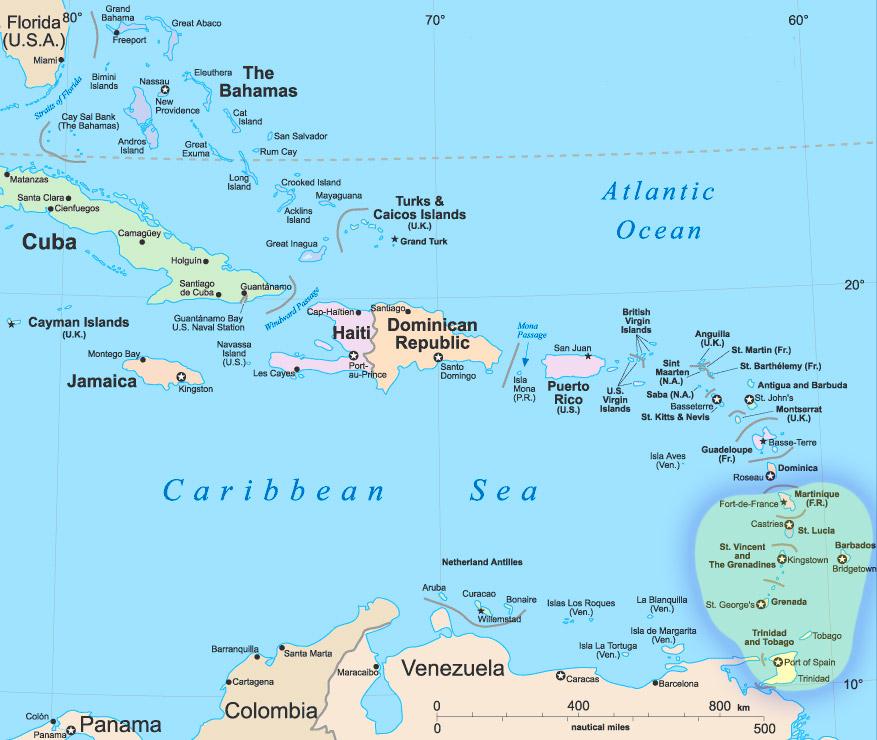 Caribbean Windward Yacht Charter